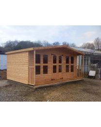16 x 10 Summerhouse with 2 foot Porch (16 x 12 Overall size)