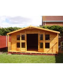 8 x 6 Summerhouse with 2 foot Porch (8 x 8 Overall size)
