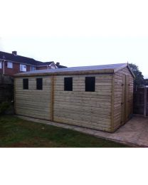 16 x 10 Heavy Duty Shed Apex Roof
