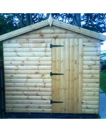 10 x 12 Log Lap Shed Apex Roof