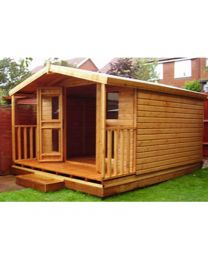 10 x 8 Summerhouse with 2 foot Porch (10 x 10 Overall size)
