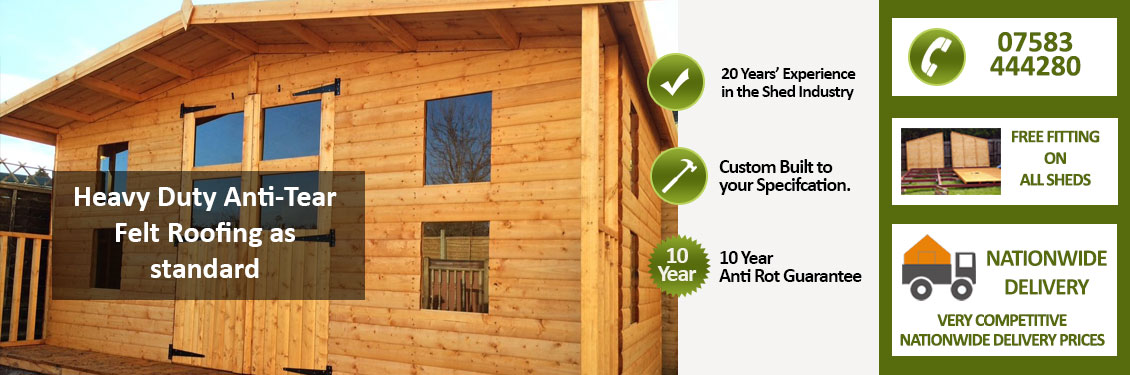 Free Fitting On All Sheds